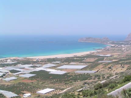 Η παραλία της Φαλάσαρνας από ψηλά
