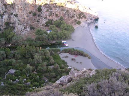 The Preveli beach