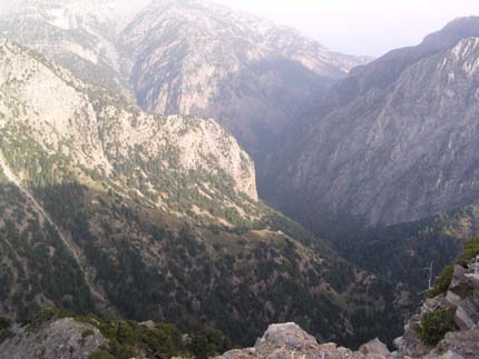 Kalergis view point for Samaria and the Lefka Ori