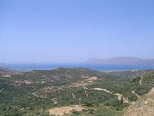 The gulf of Kissamos from Polirinia