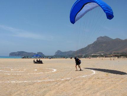 Paragliding in Falasarna