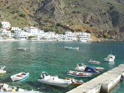The small harbour in Loutro