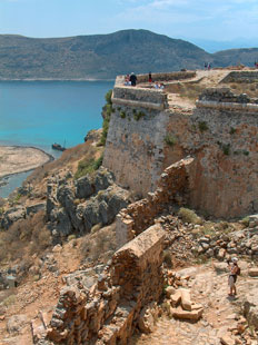 The castle in Gramvousa