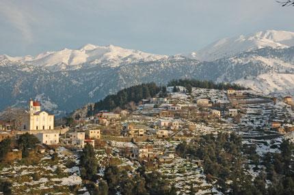 Το χωριό Λάκκοι το χειμώνα