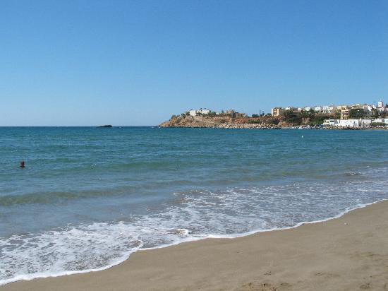 The beach of Makrigialos, Ierapetra