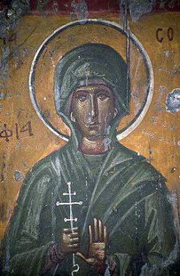 A fresco in Agios Georgios Church, Kavousi