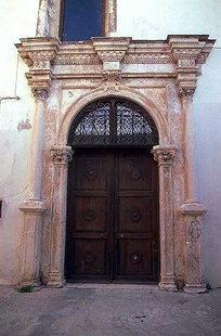 Venetian portal of the former San Francesco Church, Rethimnon
