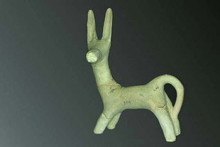 Clay votive figurine from Peak Sanctuary of Petsofas