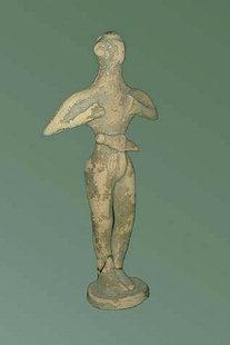 Figure votive en terre cuite du sanctuaire rupestre de Petsofas