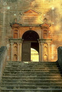 L'entrée du Monastère d'Agia Triada, Akrotiri, Chania