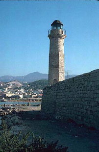 The faros (lighthouse) at the entrance of the Venetian harbour of Rethimnon