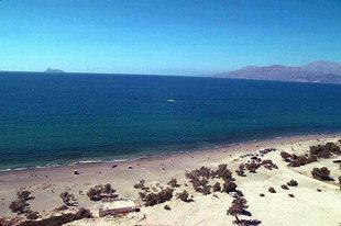 La spiaggia nei pressi del sito minoico di Kommos