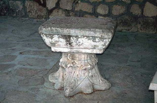 A small table made from an ancient Corinthian column, Moni Palianis