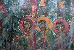 A fresco in the Panagia Church, Anisaraki