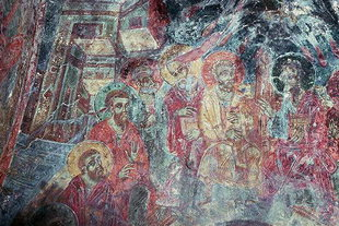 A fresco in Agia Paraskevi Church in Anisaraki