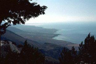 The view east toward Frangokastello