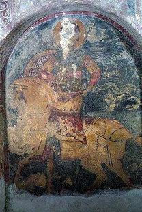 Μια τοιχογραφία από την εκκλησία του Μιχαήλ Αρχάγγελου στα Καβαλαριανά