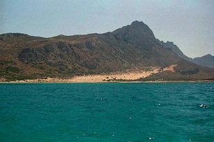 La plage à l'extrémité nord de la péninsule de Gramvousa