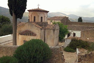 The cruciform church of the Panagia Gouverniotissa Monastery, Potamies