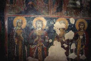 16C frescoes in the  Panagia Gouverniotissa Monastery church, Potamies