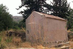 Die Agios Georgios-Kirche in Tzitzifes
