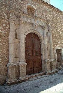 Venetian doorway of the Santa Maria Church (Neratze Mosque), Rethimnon
