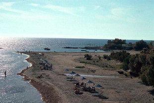 The beach in Frangokastello