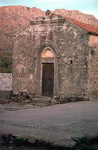 The portal of the Panagia Church in Thronos