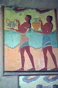 Fresko in den Oberen Gemächern, Knossos