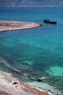 Un ancrage à Gramvousa dans la partie sud de l'îlot