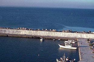Ancrage arrière au port d'Agia Galini