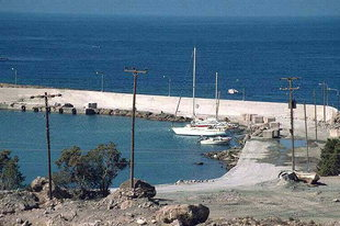 Docking facilities in Paleohora harbour