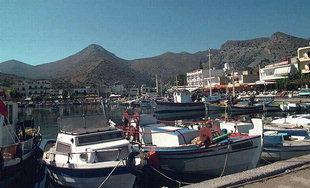 The Elounda fishing harbour