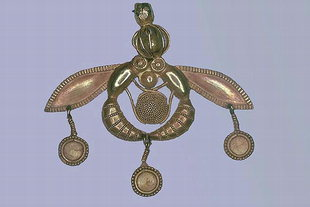 The exquisite gold pendant from Malia