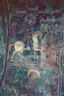 Agios Georgios de Ioannis Pagomenos dans l'église d'Agios Georgios, Komitades