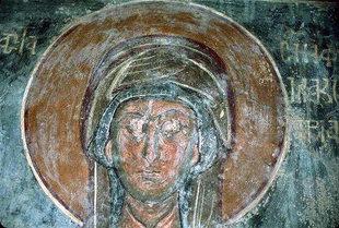 A fresco by Ioannis Pagomenos from Agios Georgios Church, Komitades
