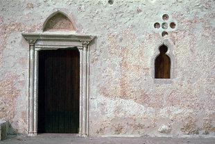 Particolari decorativi della chiesa di Agii Antonios e Thomàs, Monastero di Vrondisi