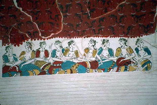 Μια τοιχογραφία στα Άνω Δωμάτια, Κνωσός