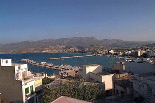 The harbour and city of Sitia