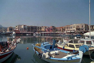 The Venetian harbour of Rethimnon