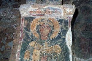 A fresco in the Byzantine church of Ai Yannis Kyr-Yannis in Alikianos