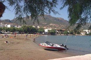 The beach of Makrigialos, Ierapetra