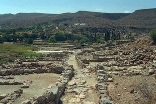 The Minoan paved road in the palace of Zakros