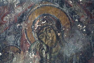 A fresco in the church of the Panagia in Fres