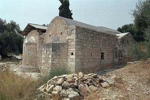 La chiesa di Panagìa Serviòtissa a Stylos