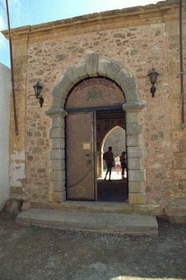 The entrance to Toplou Monastery