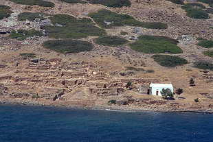 Minoan remains on the island of Mochlos