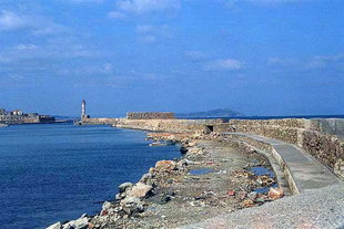 San Nicola Fort on the harbour wall, Chania