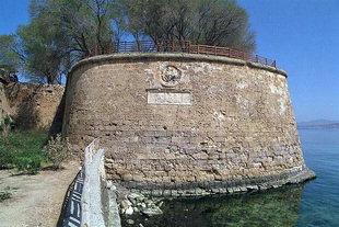 Die Sabbionere-Bastion, ein Teil der venezianischen Stadtmauern, Chania