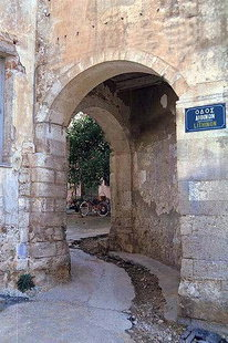Venetian archway the Kastelli of Chania
